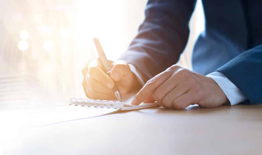writing business contract